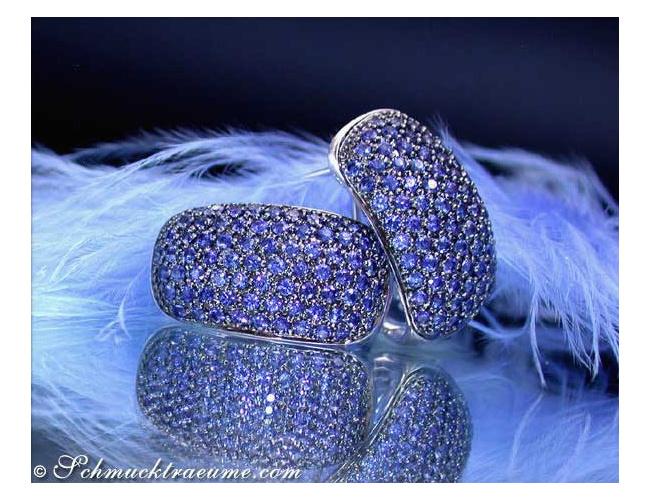 Sparkling Sapphire Earrings