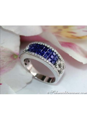 Saphir Ring mit Brillanten