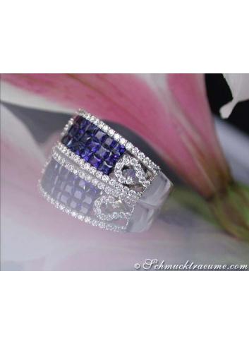 Beautiful Sapphire Band with Diamonds