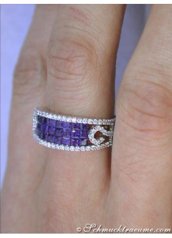 Saphir Ring mit Brillanten