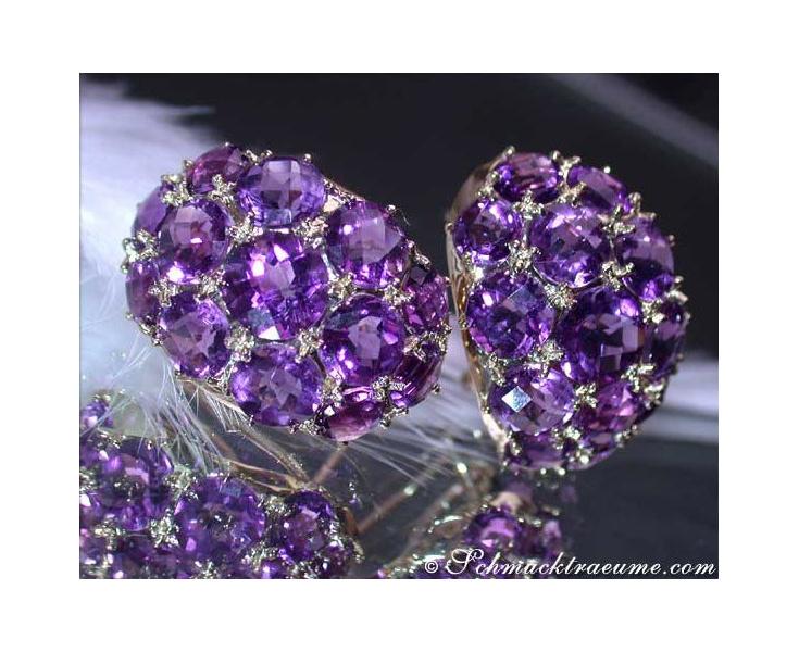 Stately Amethyst Earrings