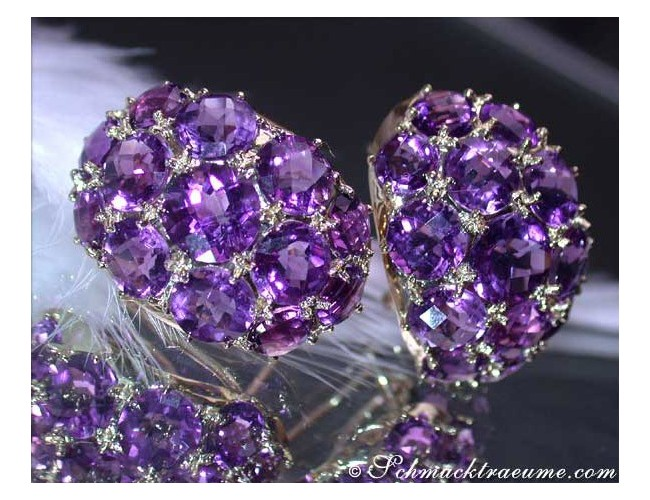 Stately Amethyst Earrings