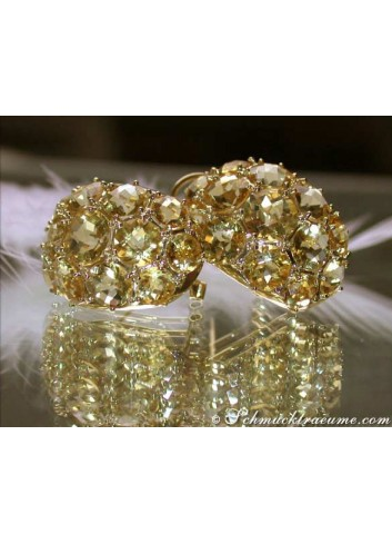 Stately Citrine Earrings