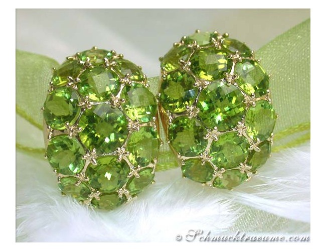 Stately Peridot Earrings