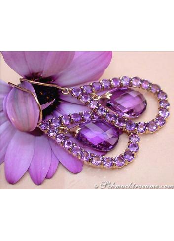 Magnificent Amethyst Chandelier Earrings