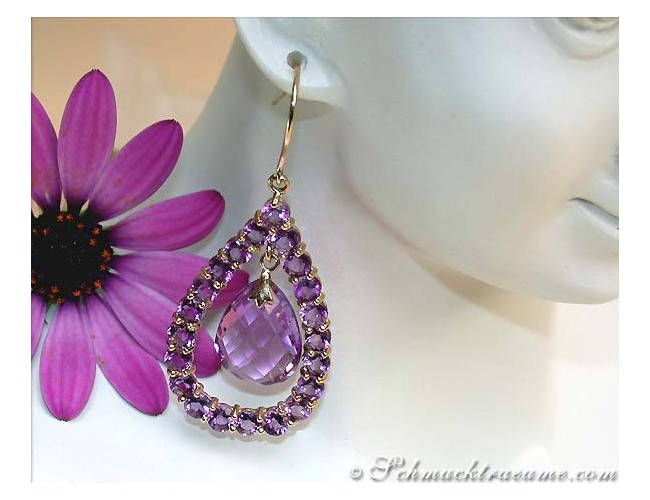 Magnificent Amethyst Dangling Earrings