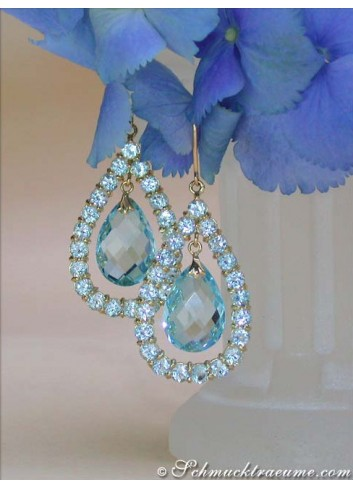 Magnificent Blautopaz Earrings
