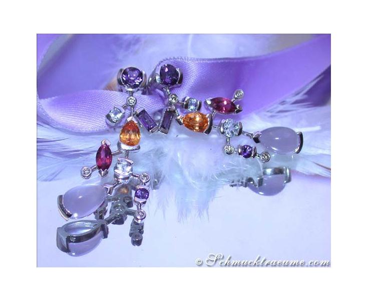 Terrific Multicolor Gemstone Earrings
