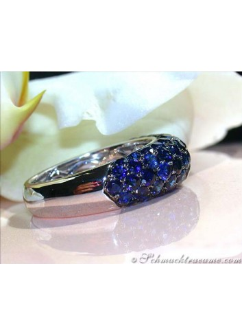 Noble Blue Sapphire Pavéring