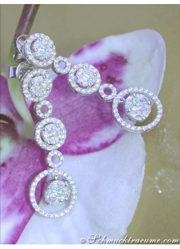 Magnificent Illusion Style Diamond Earrings