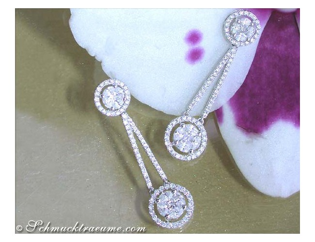 Precious Illusion Style Diamond Earrings