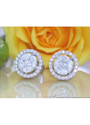 Exclusive Diamond Stud Earrings (Marquise & Princess Cut)