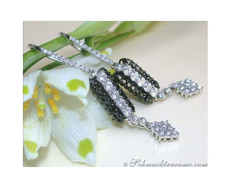 Ohrhänger mit schwarzen Diamanten