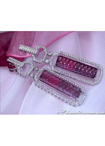 Pink Turmalin Ohrringe mit Brillanten