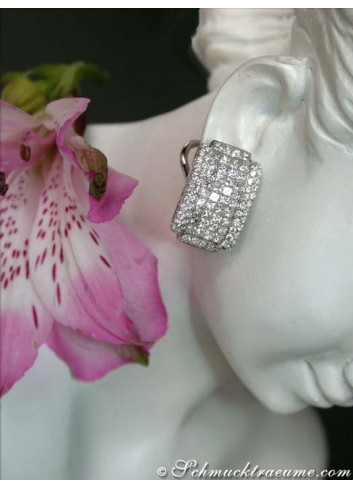Exclusive Diamond Earrings (Invisible Setting)