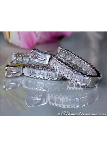 Brillanten Creolen mit Diamanten