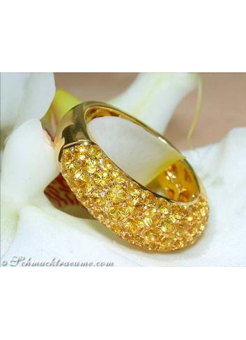 Elegant Yellow Sapphire Pavéring