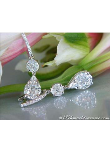 Diamanten Ohrringe in Weißgold 750