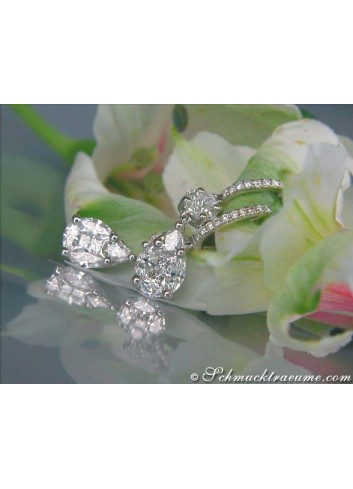 "Magnificent ""Illusion Style"" Diamond Earrings"