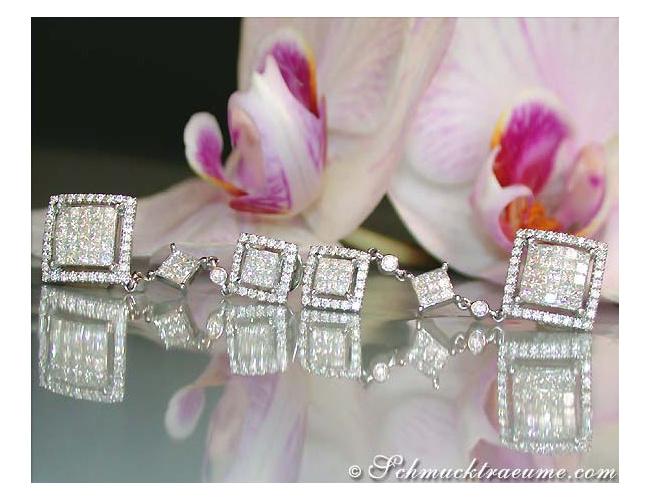 Princess Diamanten Ohrgehänge in Weißgold 750