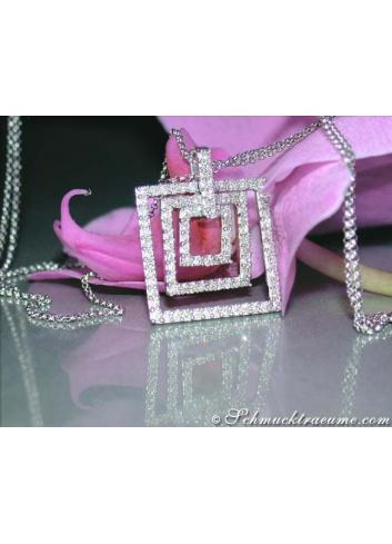 Square Diamond Pendant incl. Chain