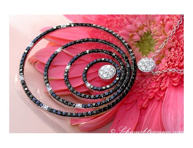 Magnificent Black & White Diamond Necklace