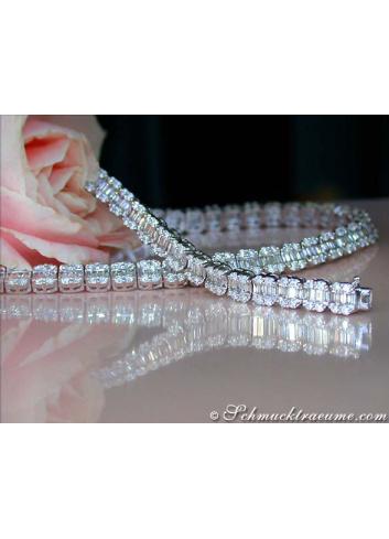 Brillanten Diamanten Collier in Weißgold 750
