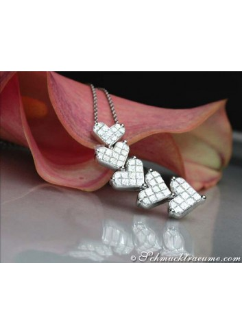 Elegant Diamond Heart Necklace
