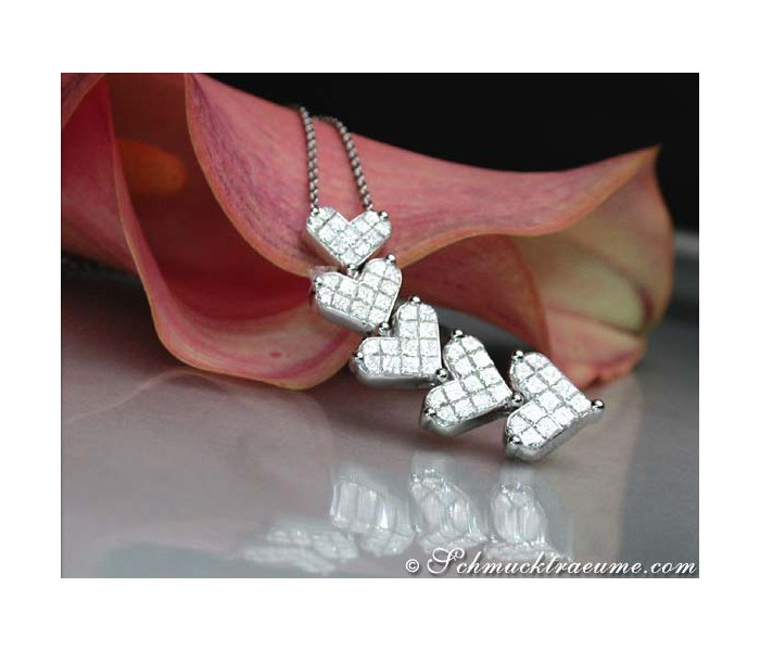Diamanten Herz Collier
