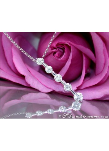 Precious Diamond Solitaire Necklace
