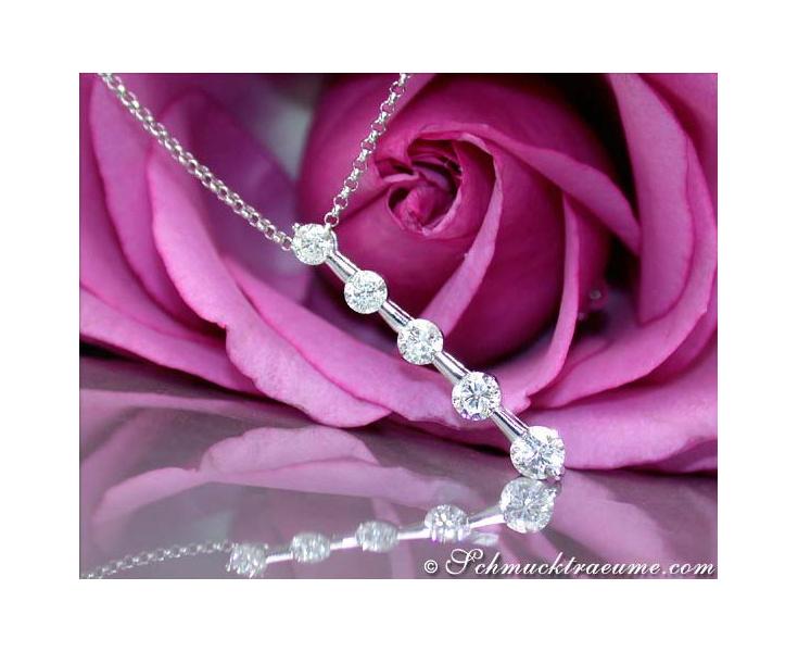 Diamant Solitär Halskette