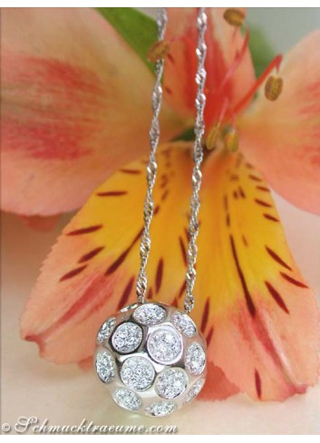 Diamond Golf Ball Pendant incl. Chain