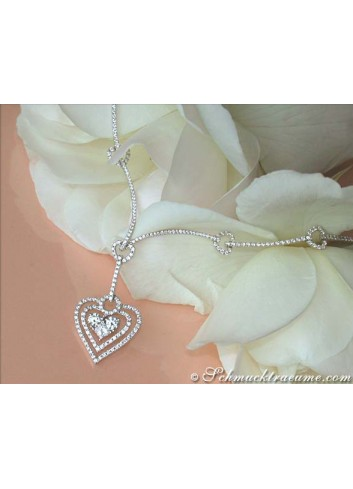 Exquisite Diamond Heart Necklace