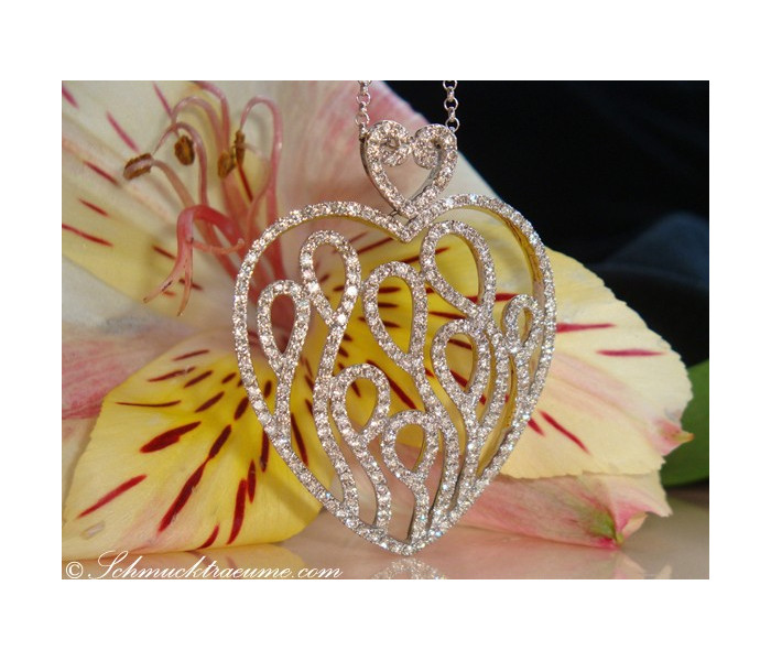 Fabulous Diamond Heart Pendant