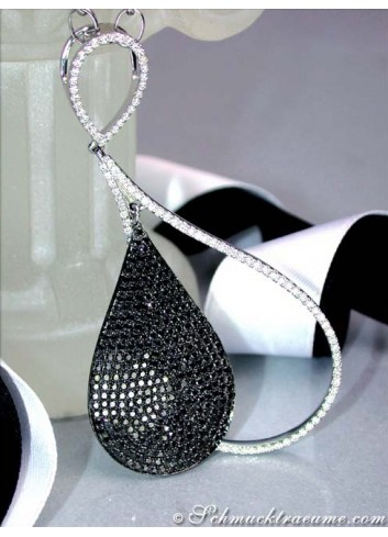 Exquisite Black & White Diamond Necklace
