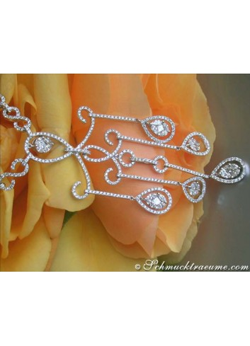 """Prestigeous """"Illusion Design"""" Diamond Necklace"""