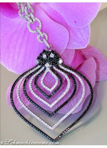 Impressive Black & White Diamond Necklace