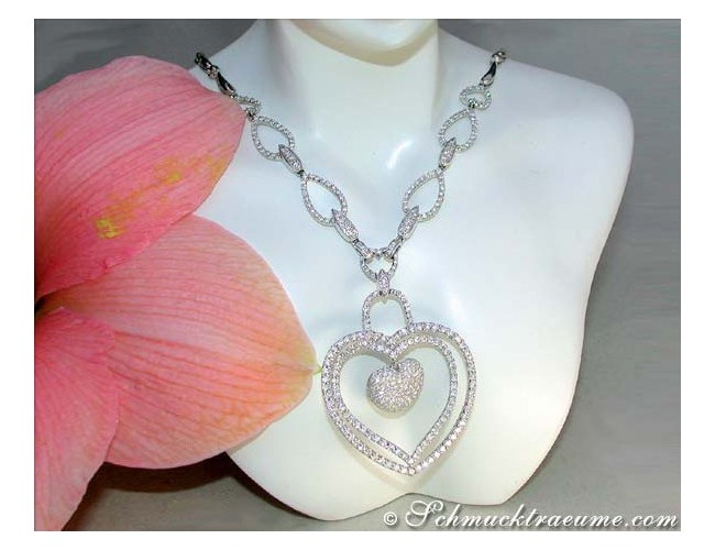 Noble Diamond Heart Necklace (4,88 ct.)