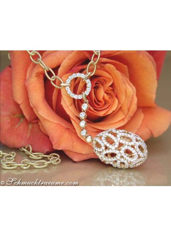 "Fancy Diamond ""Egg"" Necklace"
