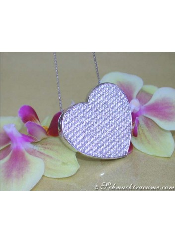 Excellent Diamond Heart Necklace