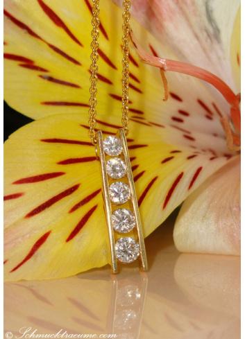 Elegant Diamond Solitaire Pendant on Chain