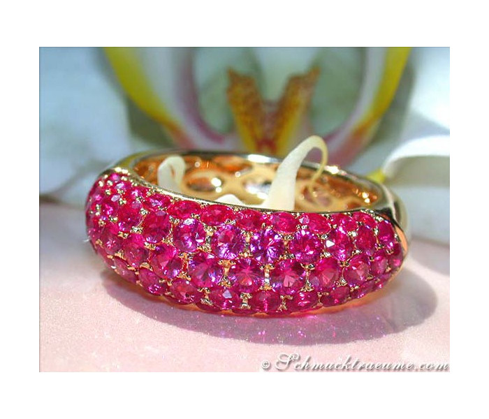 Precious Ruby Pave Ring
