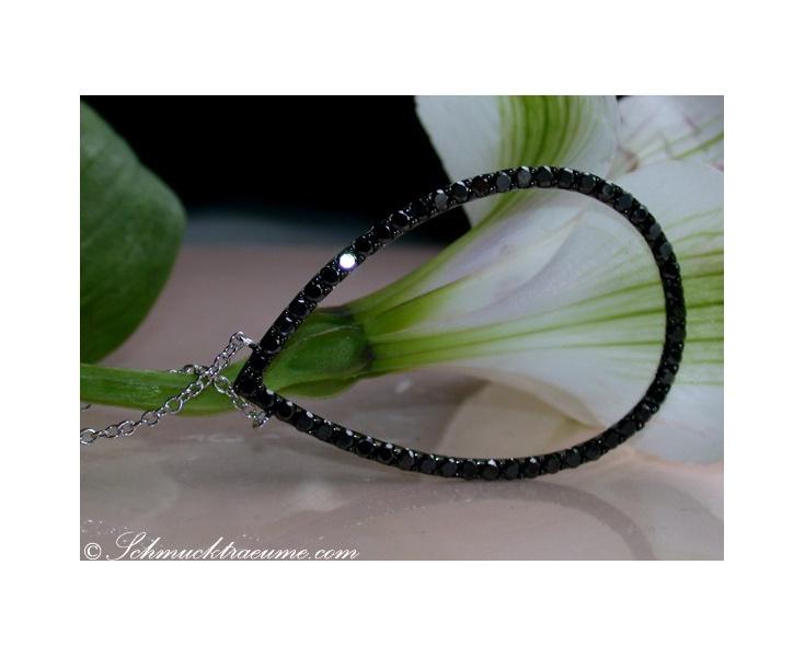 Schwarze Diamanten Halskette