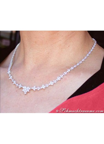 High-end Flower Design Diamond Necklace
