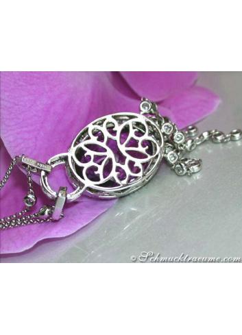 Wonderful Amethyst Necklace with Diamonds