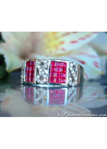 Attractive Ruby Diamond Ring