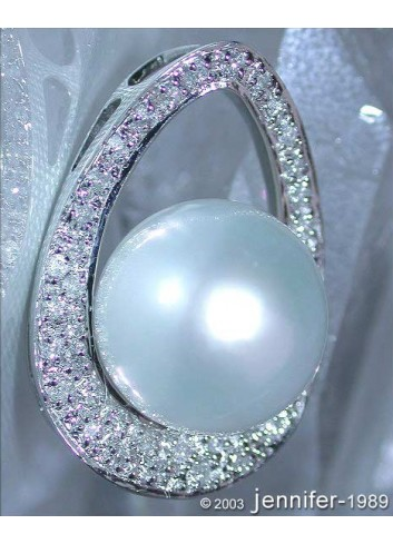 Southsea Pearl Pendant with Diamonds (Mikimoto Design)