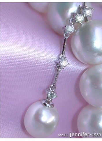 South Sea pearl diamonds pendants