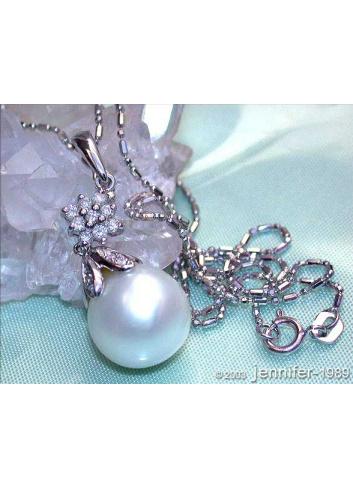 Southsea Pearl Diamond Pendant incl. Chain