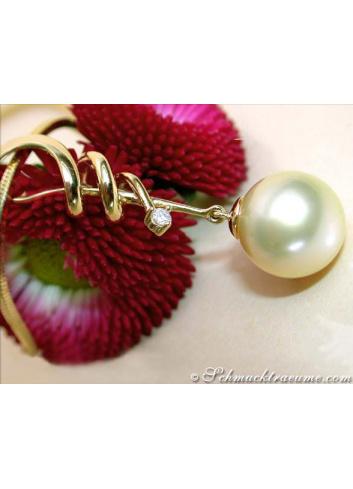 Enchanting Southsea Pearl Diamond Pendant